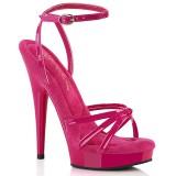 pink platåsandaler 15 cm SULTRY-638 lakk sandaler med høye hæler