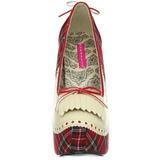 pledd mønster 14,5 cm Burlesque TEEZE-26 høye damesko med høy hæl