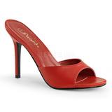 rød 10 cm CLASSIQUE-01 dame slip ins med hæler