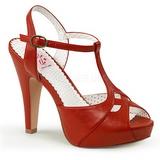 rød 11,5 cm BETTIE-23 høye fest sandaler med hæl