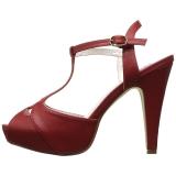 rød 11,5 cm retro vintage BETTIE-23 høye fest sandaler med hæl
