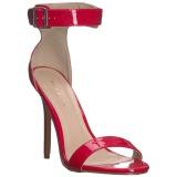 rød 13 cm Pleaser AMUSE-10 dame sandaler med hæl