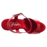 rød 15 cm DELIGHT-609 pleaser høye hæler for kvinner