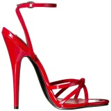 rød 15 cm DOMINA-108 sko med høye hæler for menn