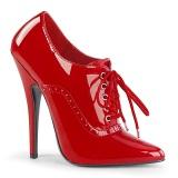rød 15 cm DOMINA-460 oxford sko med høye hæler
