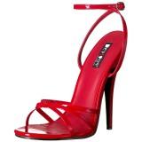 rød 15 cm Devious DOMINA-108 dame sandaler med hæl