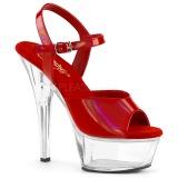 rød 15 cm KISS-209BHG platform høyhælte sko