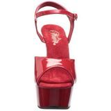 rød 15 cm Pleaser DELIGHT-609 høye hæler damer sko