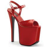 rød 18,5 cm Devious TRAMP-709 Fetish høyhælte sko platform