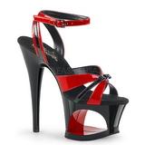 rød 18 cm Pleaser MOON-728 platform high heels sko