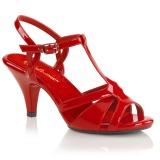 rød 8 cm BELLE-322 sko med høye hæler for menn