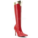 rød 9,5 cm WONDER-130 knehøye støvletter dame