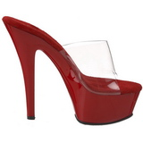 rød gjennomsiktig 15,5 cm KISS-201 platå høye mules