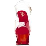 rød gjennomsiktig 18 cm MOON-708DMCH platå høye hæler sko