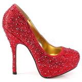rød glitrende steiner 13,5 cm FELICITY-20 damesko med høy hæl