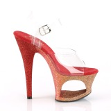 rød glitter 18 cm Pleaser MOON-708OMBRE pole dancing sko
