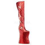 rød glitter 34 cm VIVACIOUS-3016 overknee støvler til drag queen