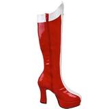 rød hvit 11 cm Funtasma EXOTICA-305 platå høye støvler