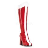 rød hvit 7,5 cm GOGO-305 knehøye støvletter dame