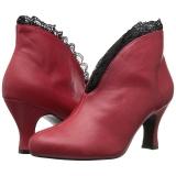 rød kunstlær 7,5 cm JENNA-105 store størrelser ankelstøvletter dame