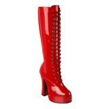 rød lakk 13 cm ELECTRA-2020 platå høye støvler