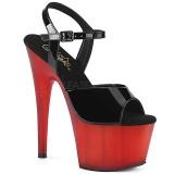 rød lakk 18 cm ADORE-709T pleaser platåsandaler for kvinner