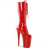 rød lakk 23 cm Pleaser INFINITY-2020 platå høye støvler