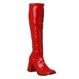 rød lakk 7,5 cm Funtasma GOGO-300 høye støvler dame