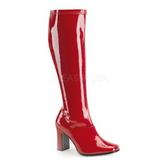 rød lakk 9,5 cm FUNTASMA KIKI-350 høye støvler dame