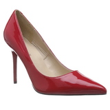 rød lakkert 10 cm CLASSIQUE-20 spisse pumps med stiletthæler