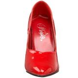 rød lakkert 10 cm DREAM-420 kvinner pumps høye hæler
