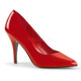 rød lakkert 10 cm VANITY-420 dame pumps sko flate hæl