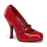 rød lakkert 12 cm CUTIEPIE-02 dame pumps sko flate hæl