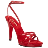 rød lakkert 12 cm FLAIR-436 dame sandaletter lavere hæl