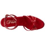 rød lakkert 12 cm FLAIR-436 high heels sko til menn