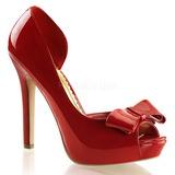 rød lakkert 12 cm LUMINA-32 høye pumps fest sko med hæl