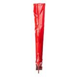 rød lakkert 13,5 cm INDULGE-3000 lårhøye støvler til menn