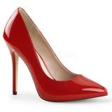 rød lakkert 13 cm AMUSE-20 høye pumps damesko til menn