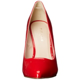 rød lakkert 13 cm AMUSE-20 spisse pumps med stiletthæler