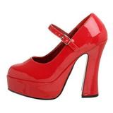 rød lakkert 13 cm DOLLY-50 høye pumps damesko til menn