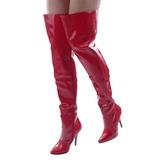 rød lakkert 13 cm SEDUCE-3010 lårhøye støvler til menn