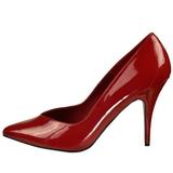 rød lakkert 13 cm SEDUCE-420V spisse pumps med høye hæler