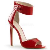 rød lakkert 13 cm SEXY-19 høye fest sandaler med hæl