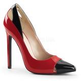 rød lakkert 13 cm SEXY-22 klassiske pumps sko til dame