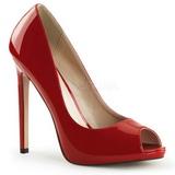 rød lakkert 13 cm SEXY-42 klassiske pumps sko til dame