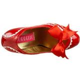 rød lakkert 14,5 cm Burlesque TEEZE-14 høye damesko med høy hæl