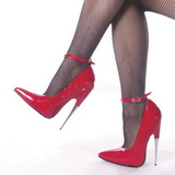 rød lakkert 15 cm SCREAM-12 dame pumps sko stiletthæler