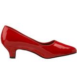 rød lakkert 5 cm FAB-420W dame pumps med lave hæl