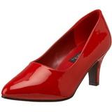 rød lakkert 8 cm DIVINE-420W dame pumps med lave hæl