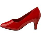 rød lakkert 8 cm DIVINE-420W høye pumps damesko til menn